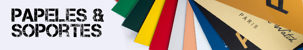 Gama de papeles y soportes de Exaprint