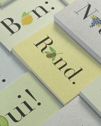 Carte de vœux pelliculé mat soft touch