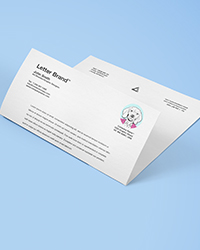 Carte de vœux papier bristol
